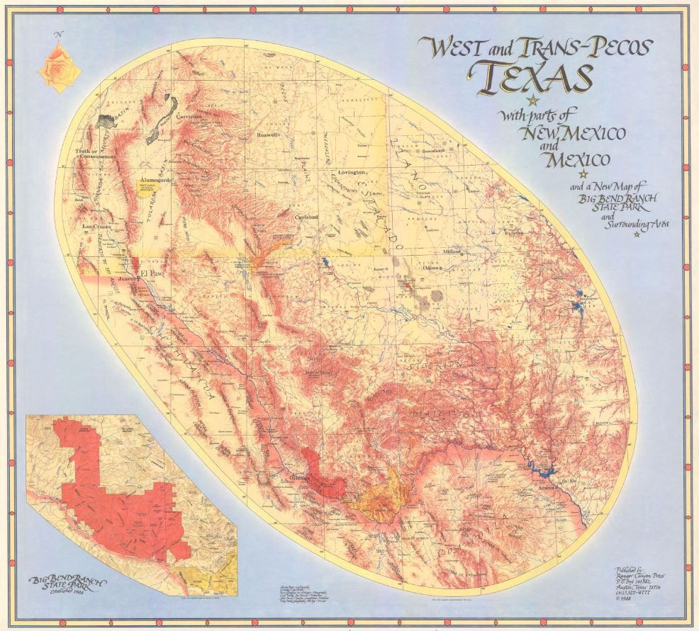 My Favorite Map: West and Trans-Pecos Texas with parts of New Mexico ...