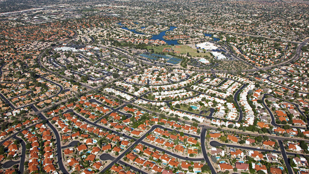How did the American Dream Result in Urban Sprawl?