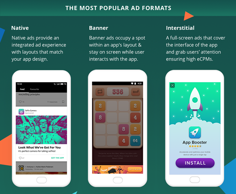 This way you will be earning cash, and still have time to experiment with  other monetization strategies. Here are the top-performing ad formats: