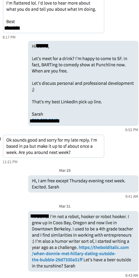 Can you use linkedin as a hookup site