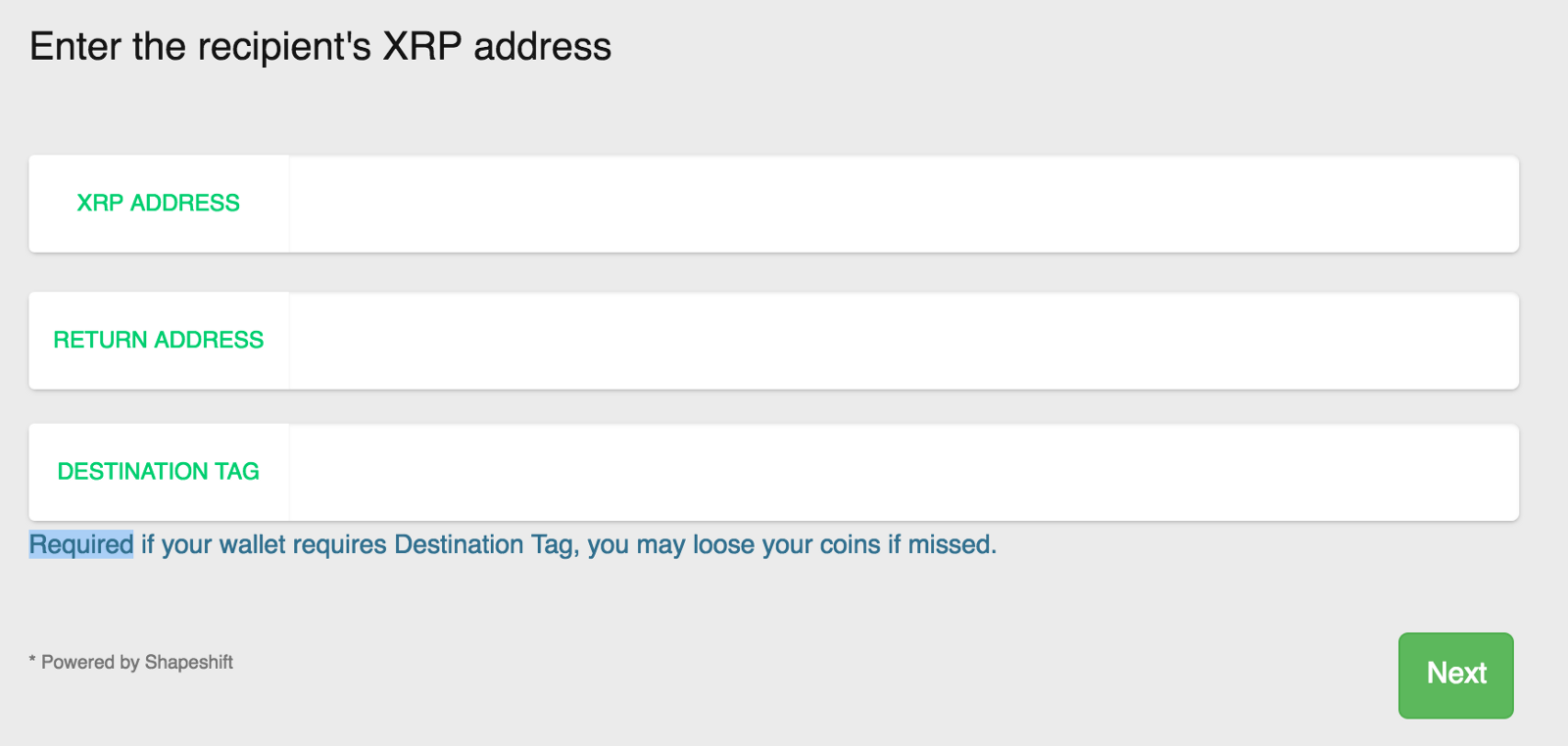 how to get xrp address
