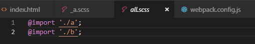 import 進 all.scss