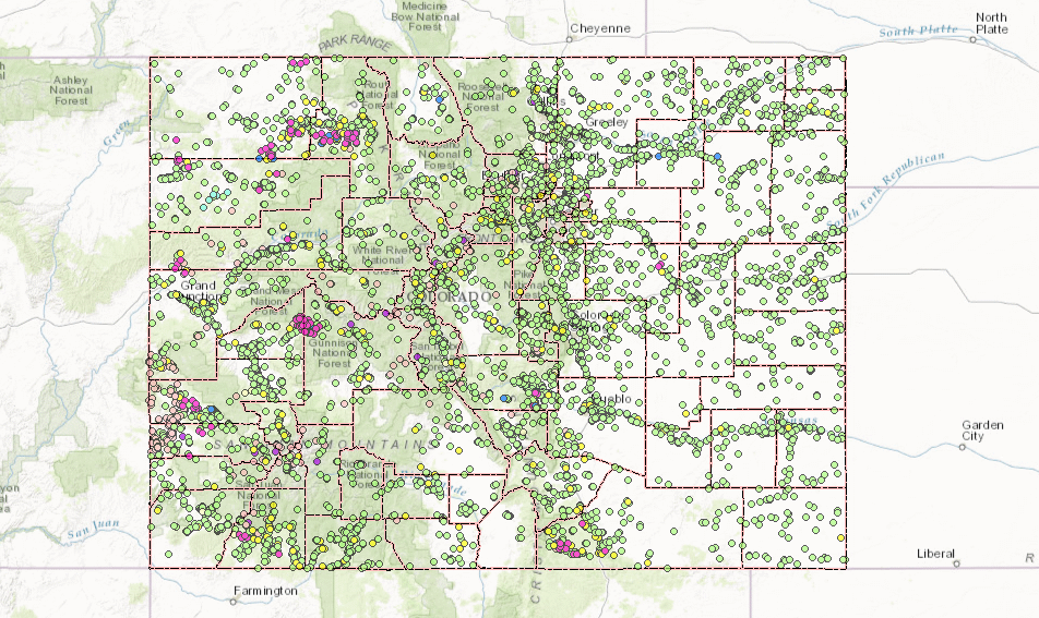 Two Years After The Gold King Spill Conservation Colorado Medium: Map Of Colorado Gold Mine Spill At Usa Maps