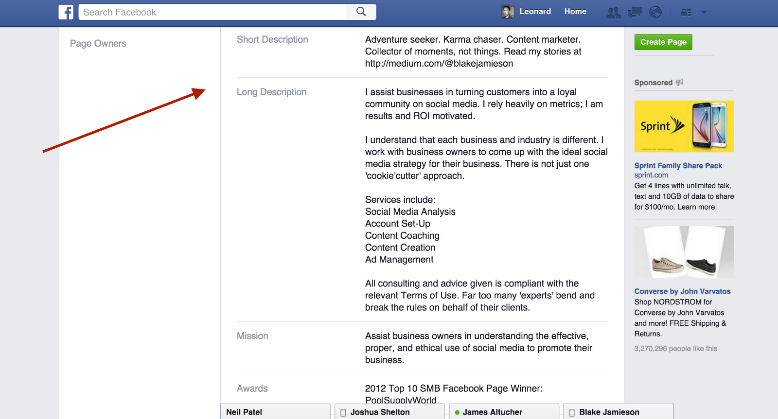 how to write a checkmark on facebook
