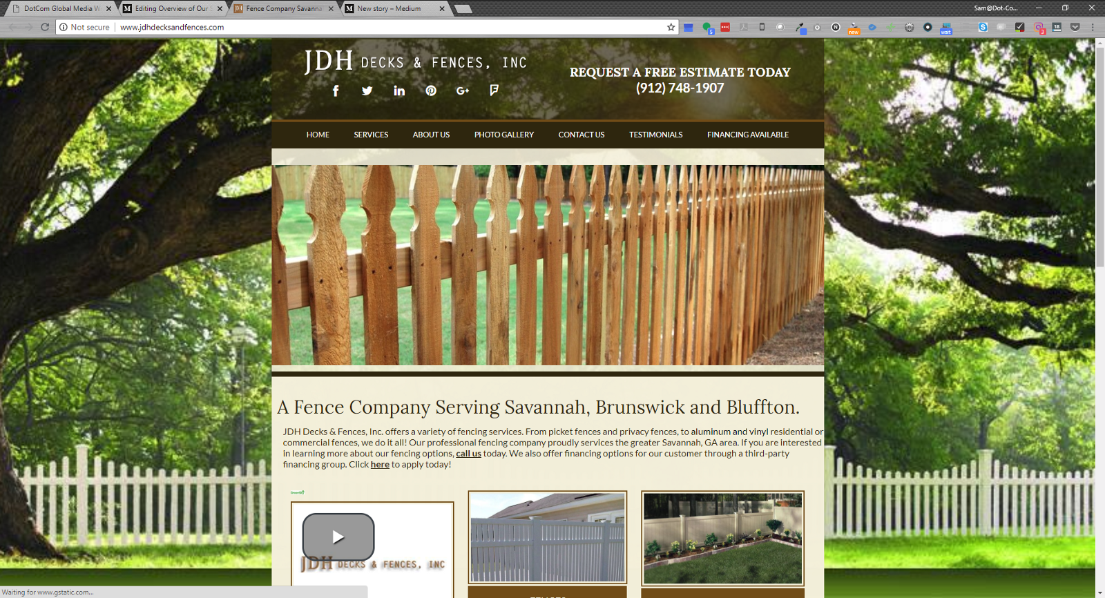 Jdh Fence Is A Company Based Out Of Georgia Specializing In Aluminum And Vinyl They Are Part Number Clients We Have Who