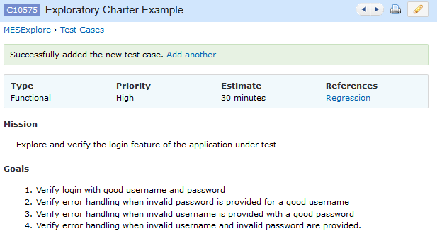 A beginning to exploratory software testing lendingtree for Test charter template