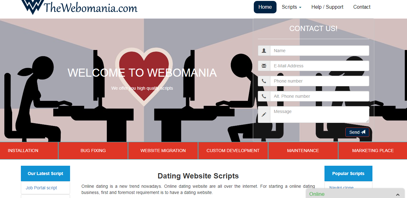 free dating scripts download