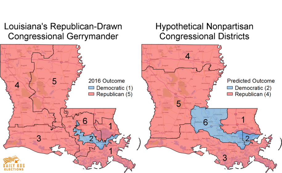 The Top Most Gerrymandered States In America Rantt - Louisiana us representative map