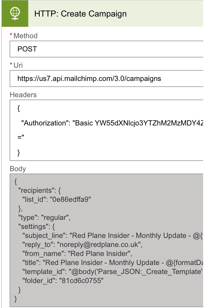 Creating And Sending A Mailchimp Campaign With Custom Html From