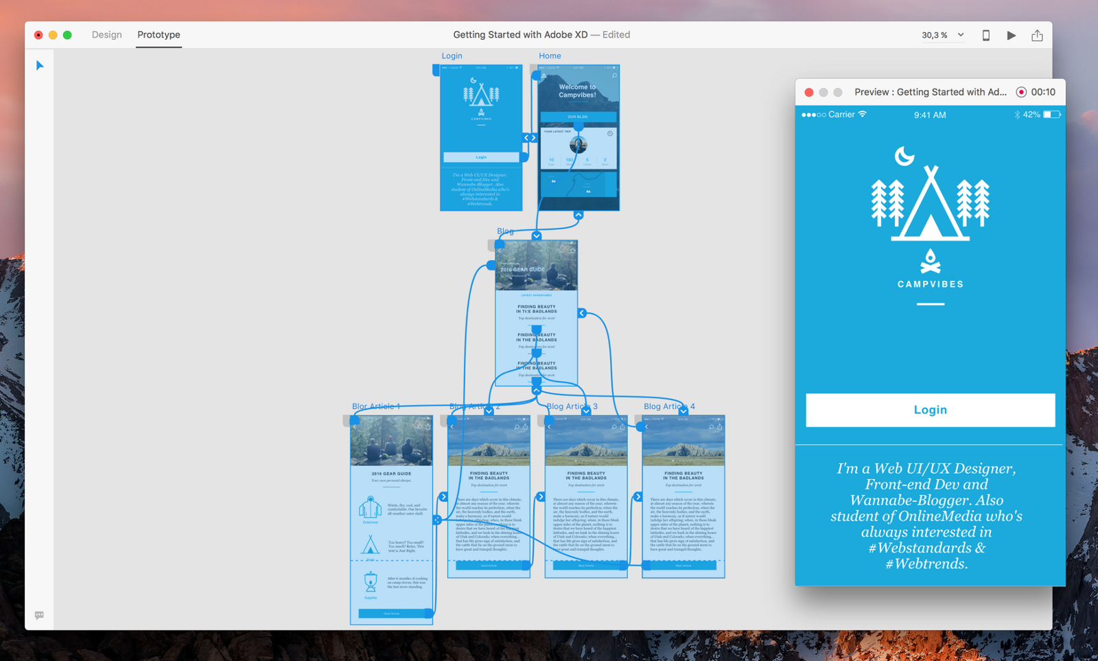 Preview your prototype on your Mac - Adobe XD
