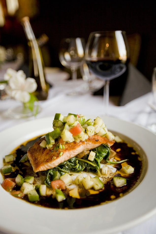 In keeping with keto diet basics, choose a healthy protein like salmon