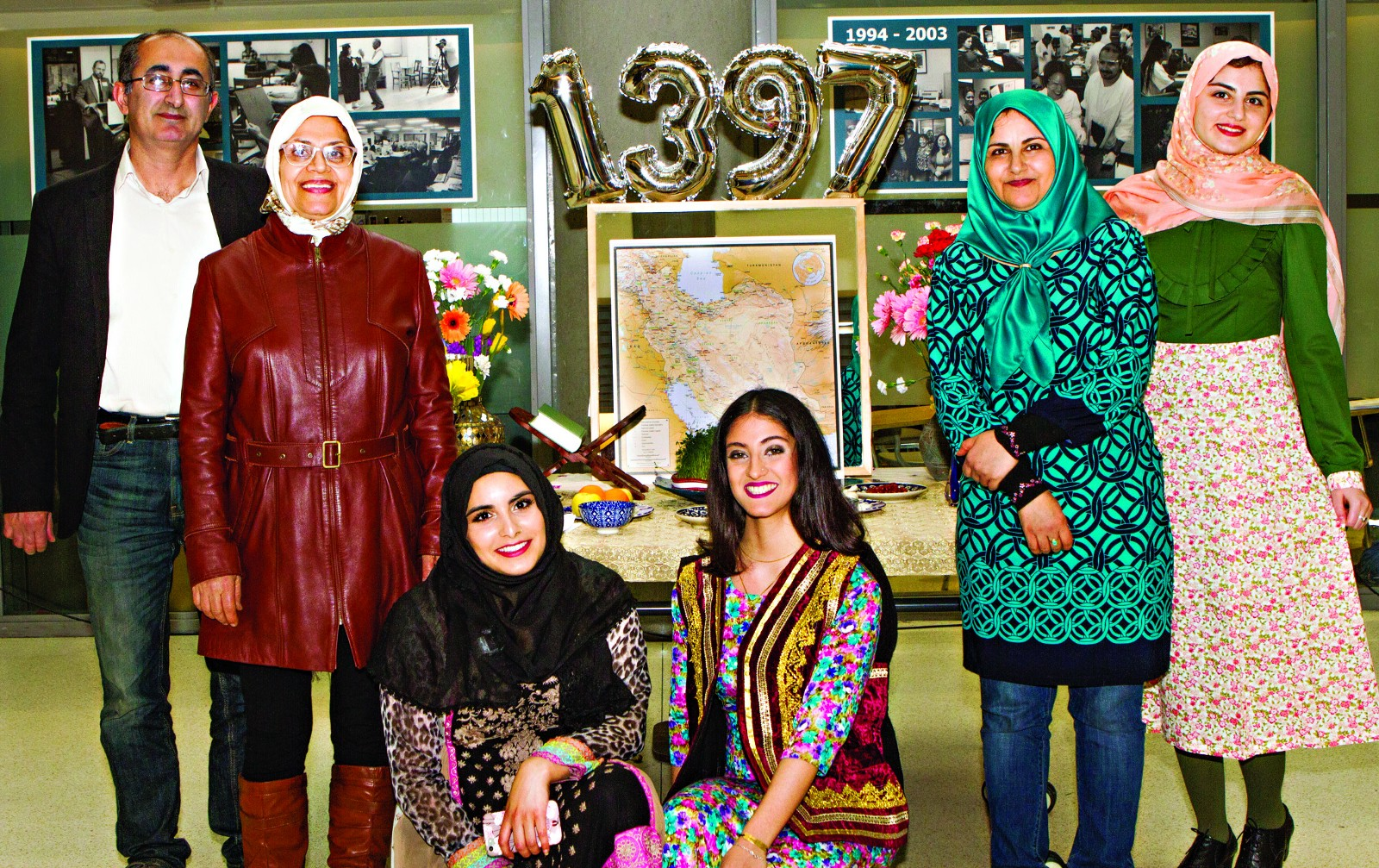 ... of the Muslim Students Association in front of the Haft-Seen at  Berkeley City College March 20. According to the Persian calendar, the year  1397 began ...