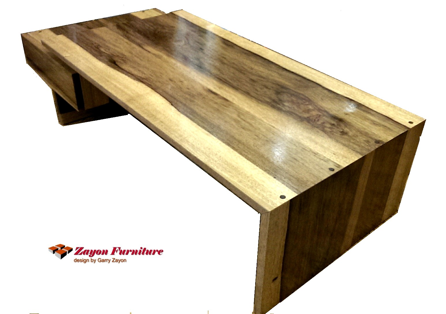 Black Limba Wood Coffee Table By Garry Zayon
