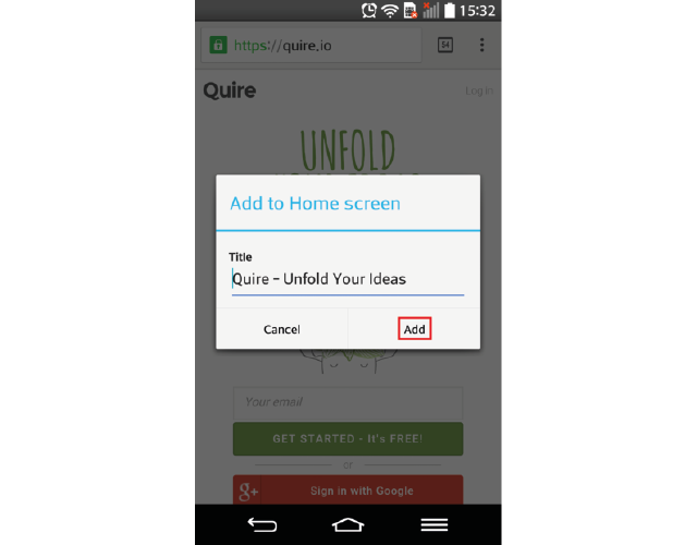 Pin Quire to Your Smartphone\'s Home Screen – Quire & You – Medium
