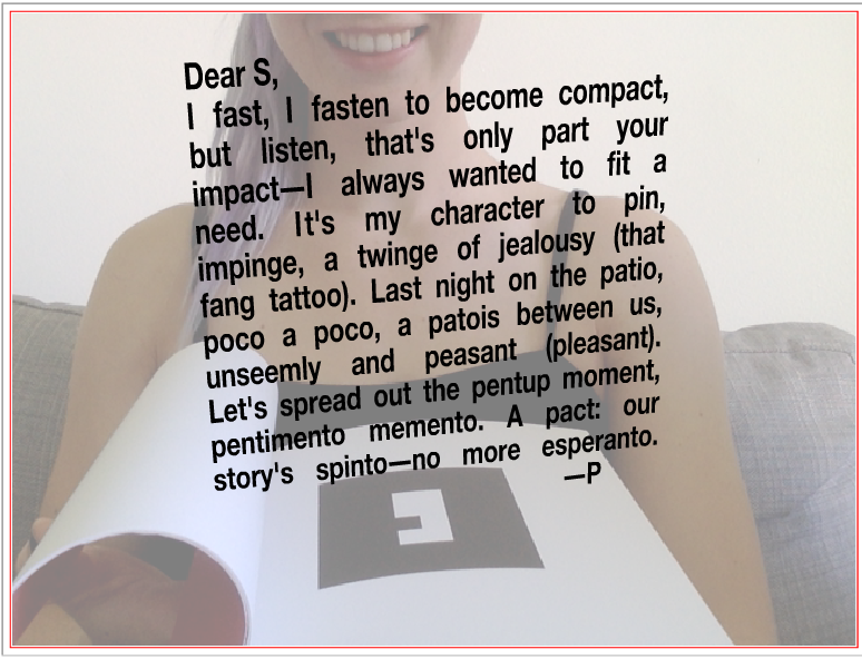 Brave new literature digital textuality technology and cyborgian illustration showing the reader observing herself behind ps love poem fandeluxe Images