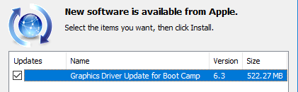 update boot camp support software
