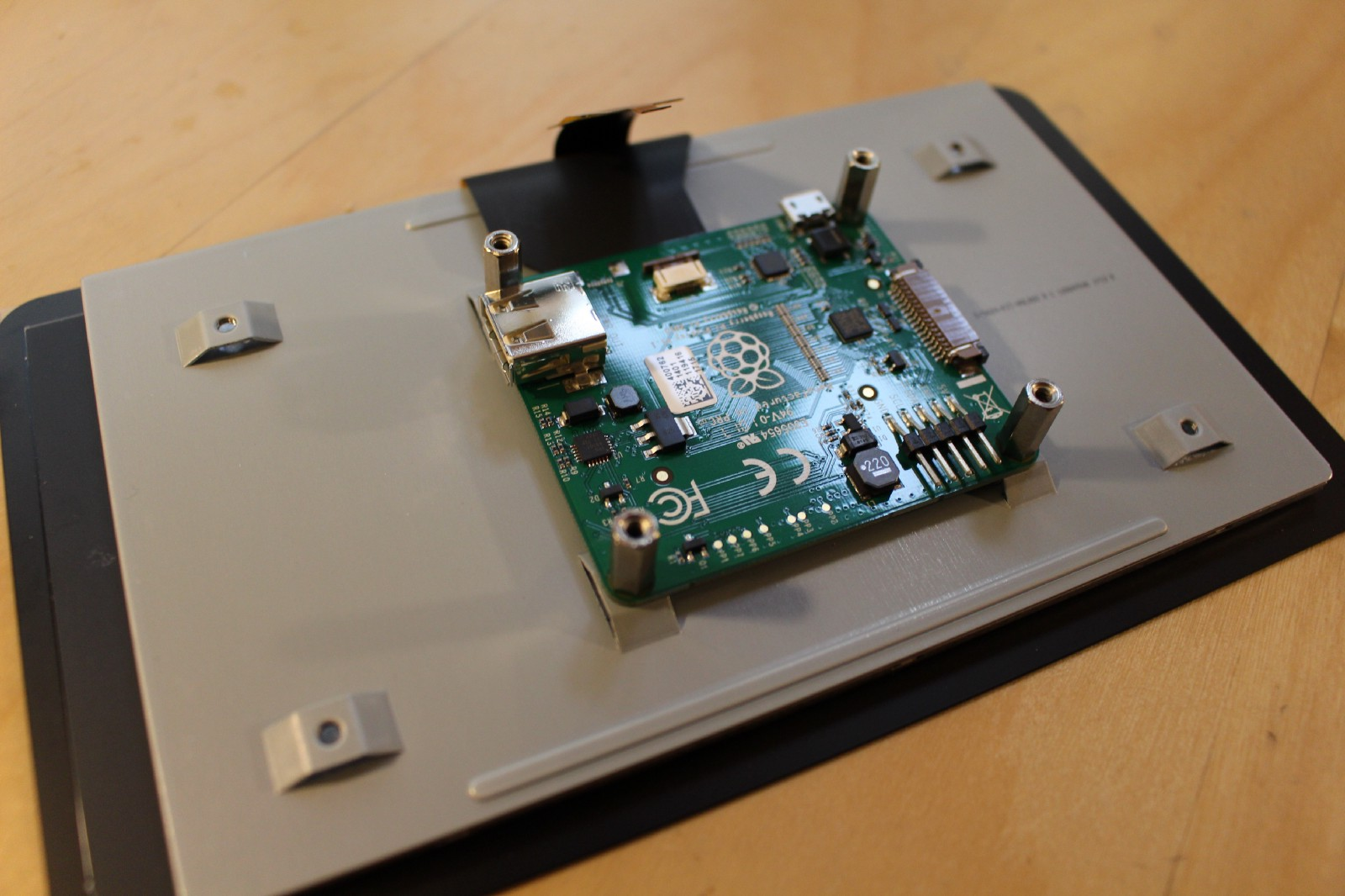 A Magic Mirror Powered By Aiy Projects And The Raspberry Pi Circuit Boards Like Appears Cable To Digitizer Disconnected From Main Lcd Panel