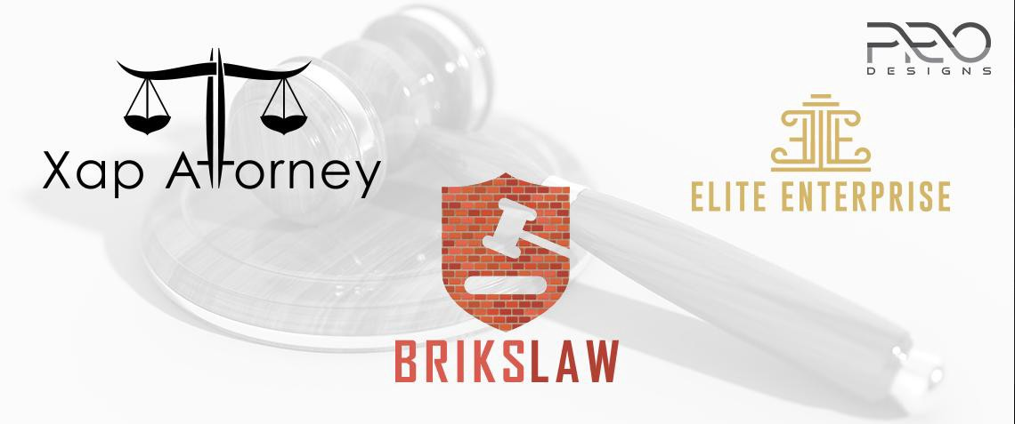 Attorney and Law Logo Design - cover