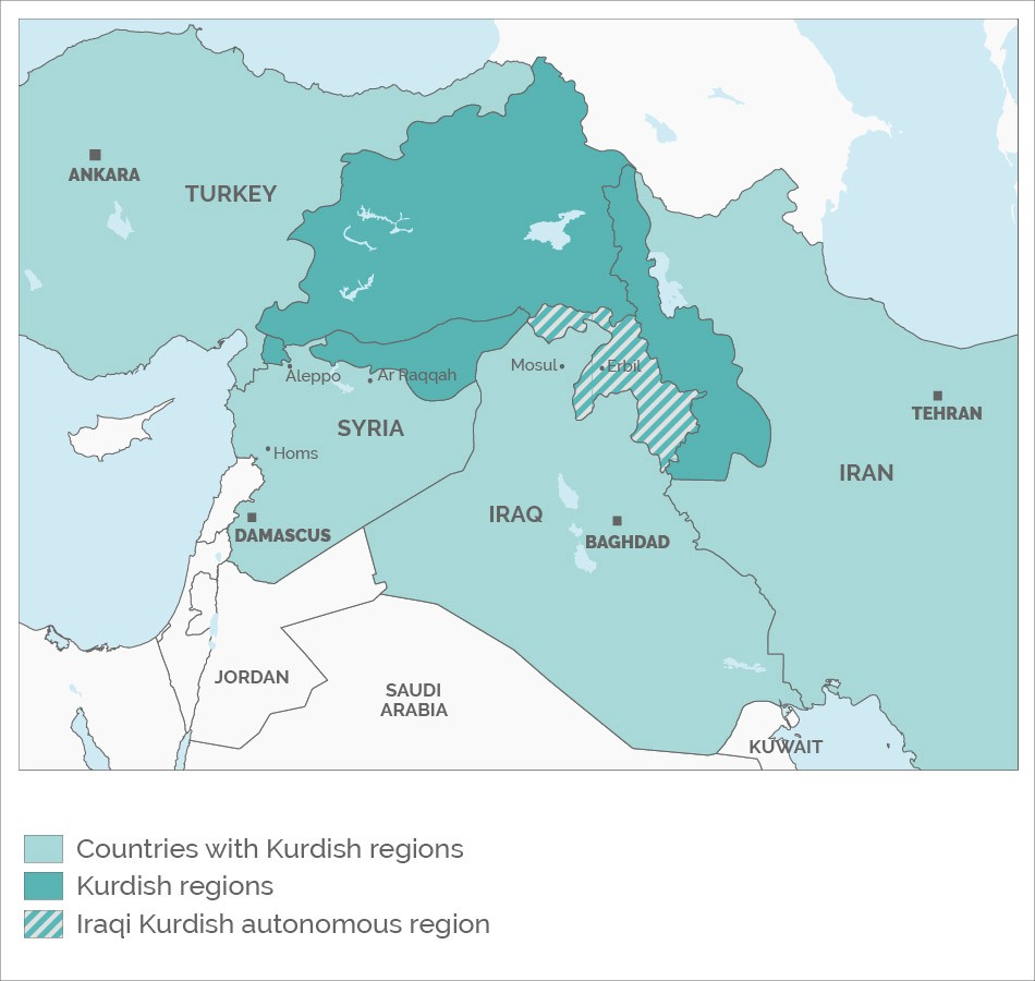 93 of iraqi kurds just voted in favour of an independent state but kurdish regions spreading across turkey iran syria and iraqi autonomous region highlighted gumiabroncs Gallery