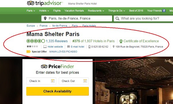 This Hotel Paid For A TripAdvisor Business Listing