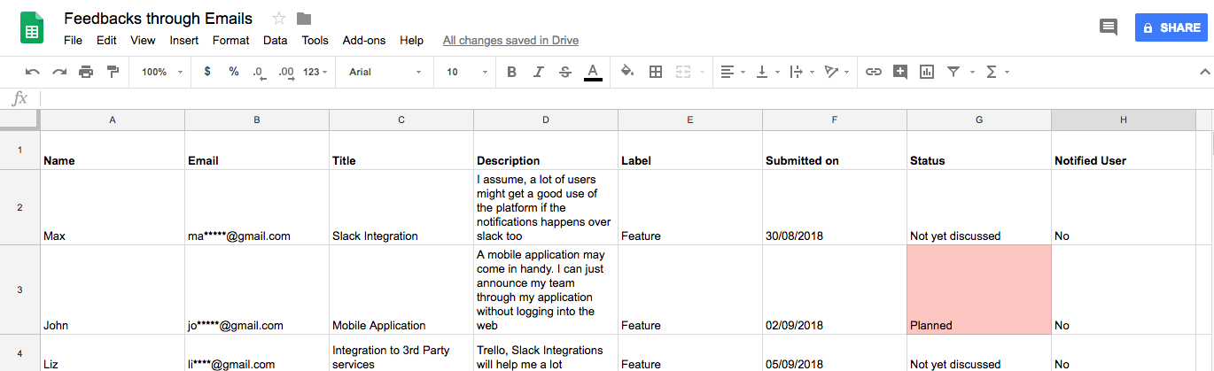 Why Managing User Feedback In Google Sheets Is Not A Good Idea