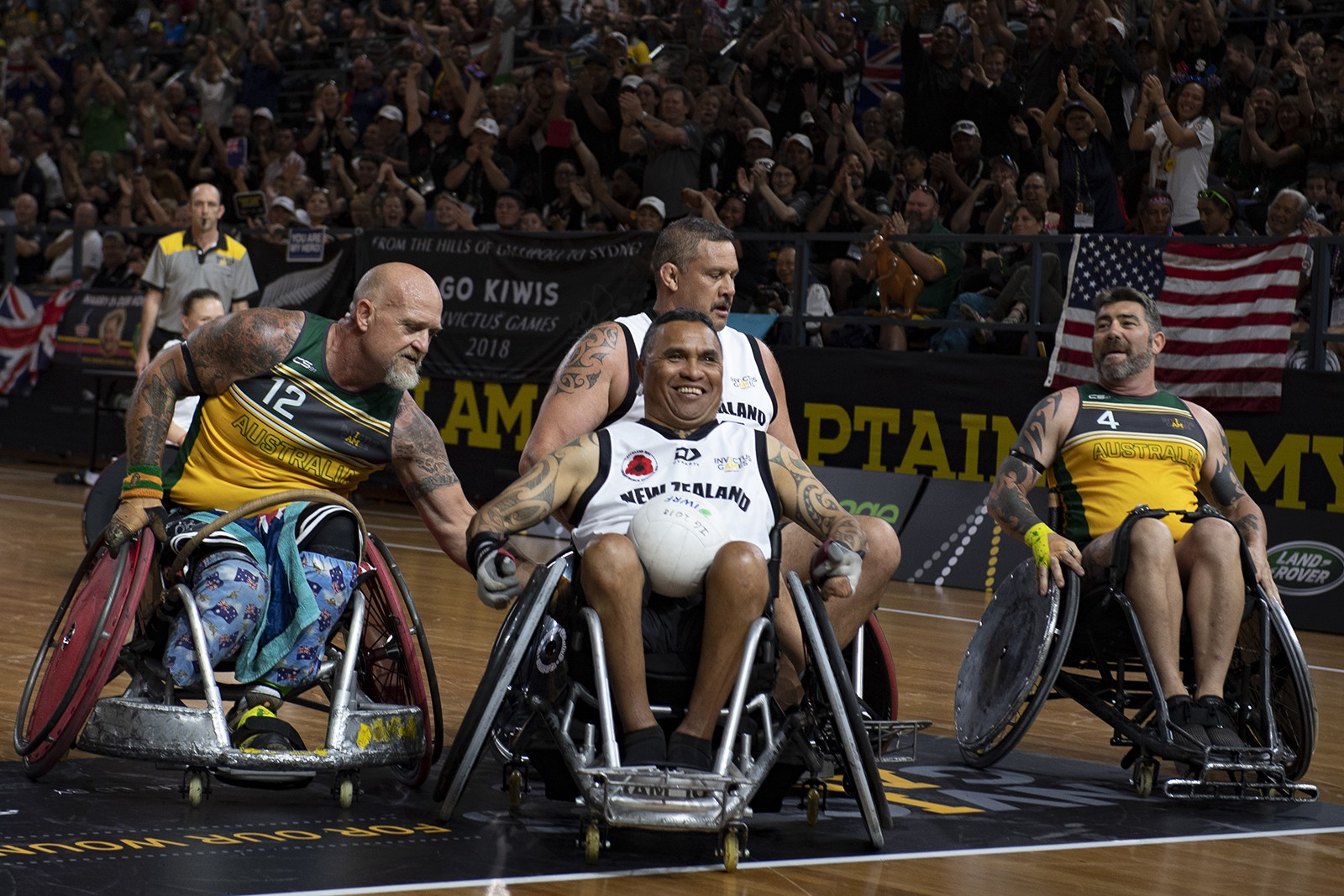 Spirit Of Invictus Games Outweighs Trans Tasman Rivalry