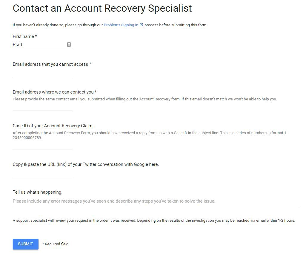 How I lost access to my Google Account for a month – Prad Patel ...