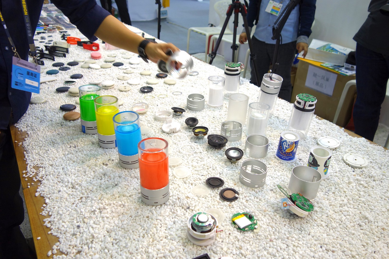 At the Shenzhen Industrial Design Fair (Nov 2016), a design house showed the components that make up some connected products. Image: Peter Bihr (CC by-nc-sa)