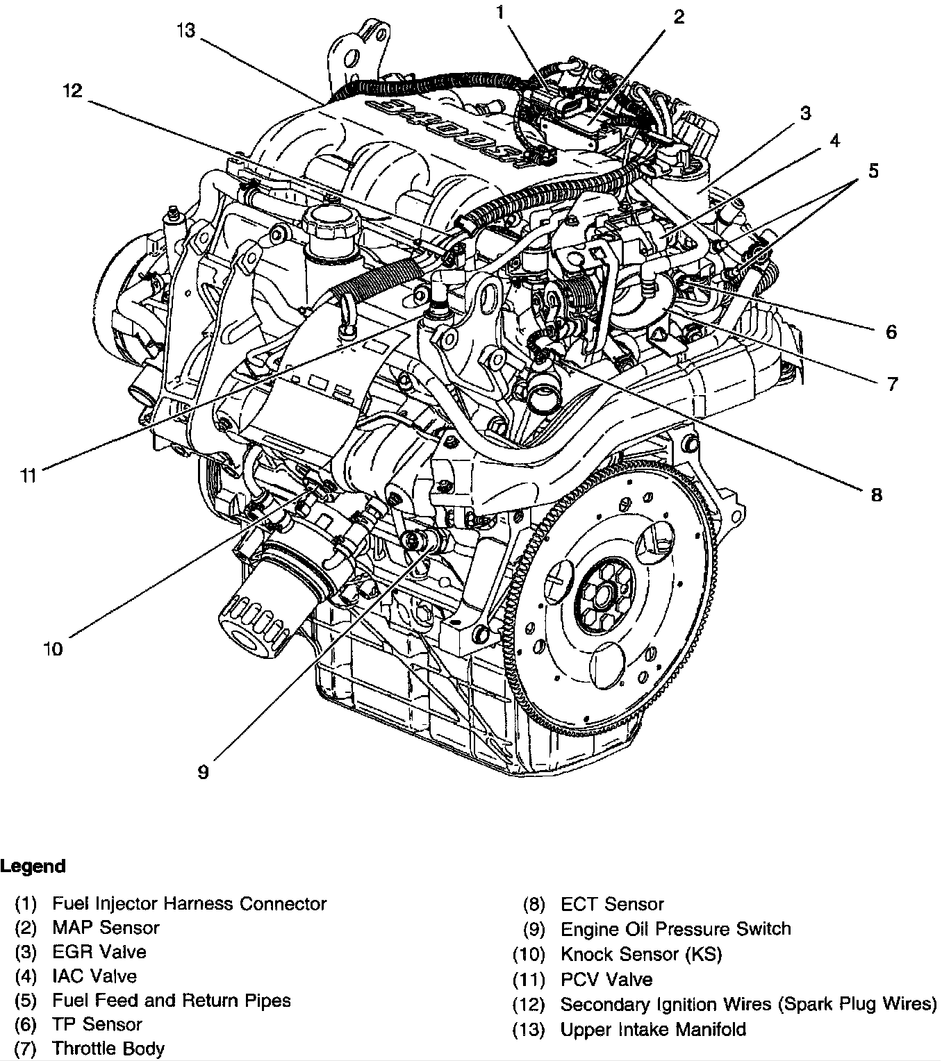 2003 chevy impala parts diagram 3400