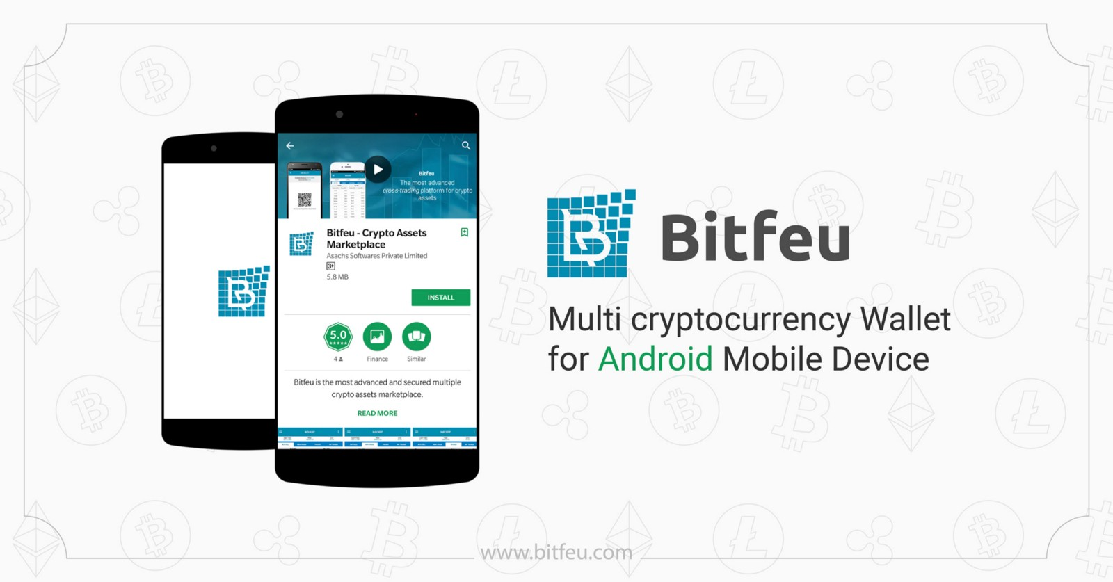 Bitfeu Multi Cryptocurrency Wallet For Android Mobile Device