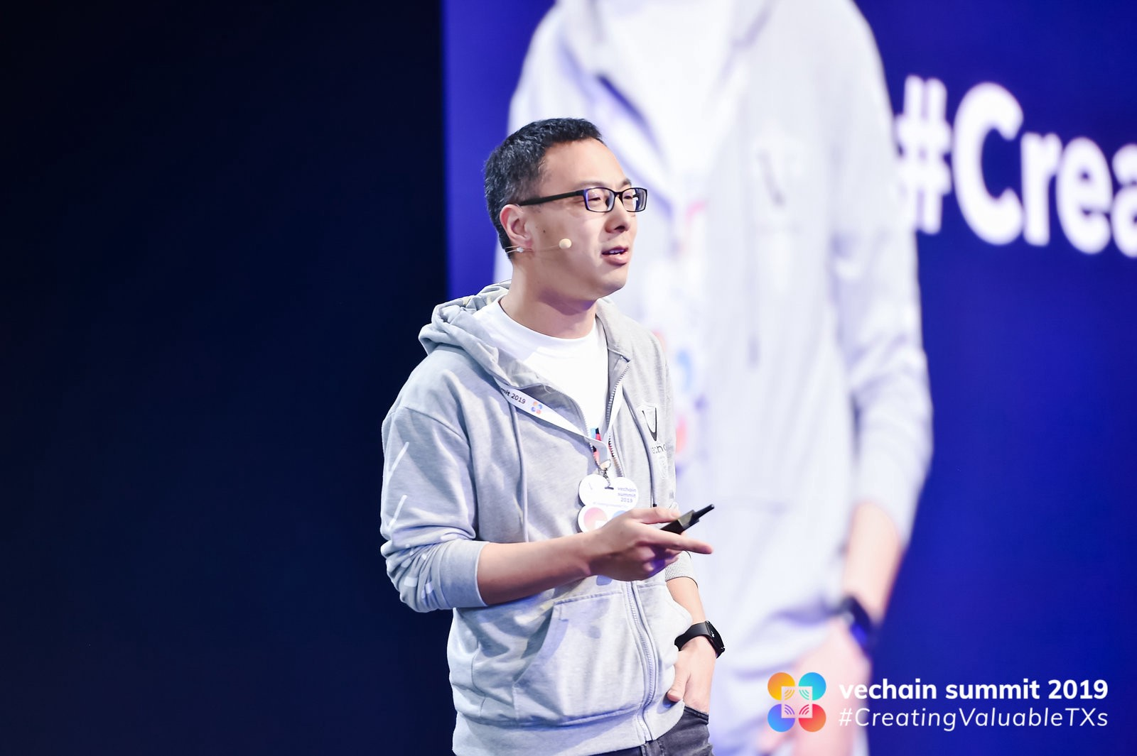 Sunny Lu (VeChain CEO) on stage at VeChain Summit 2019