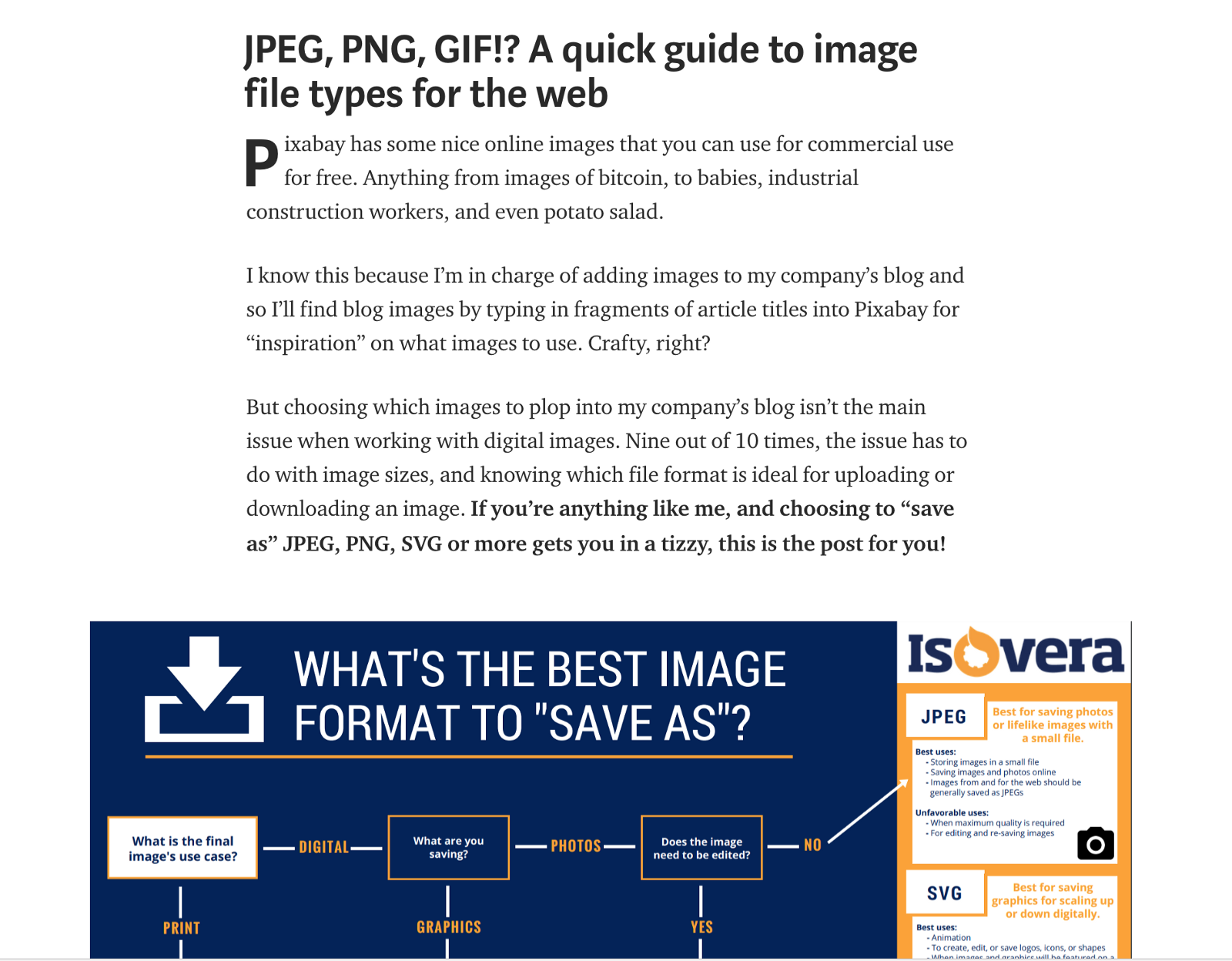 Gif, jpeg and png format. Their characteristics and application 87