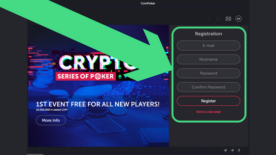 Guide to Getting Started on CoinPoker Step 4