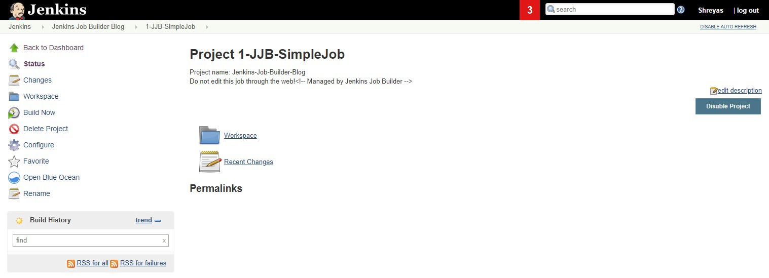 Click on 1-JJB-SimpleJob