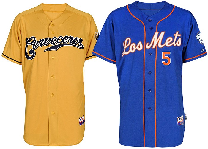 "8e3b0aec19e The great Milwaukee Brewers as the  Cerveceros  and the New York Mets as the  ""The Mets"""