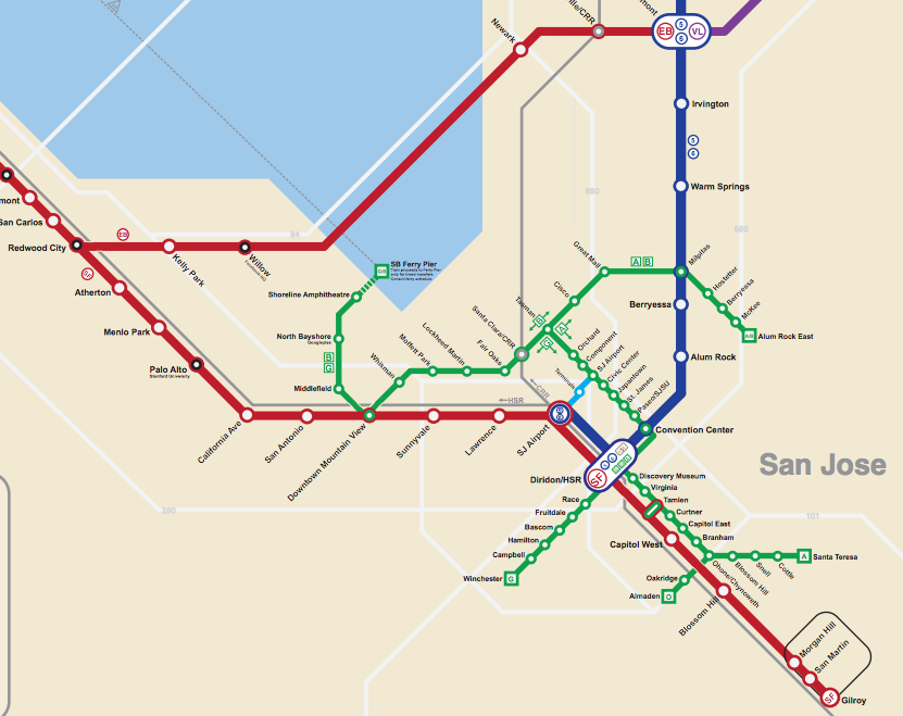 Bay Area 2050: the BART Metro Map – Future Travel