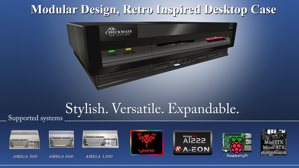 The Amiga Makes A Comeback With Stylized Desktop Retro Cases