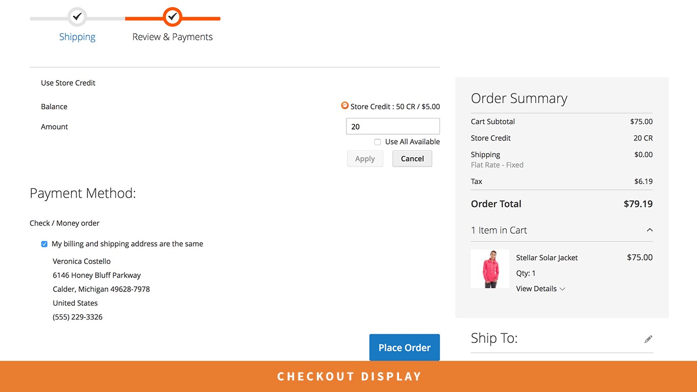 Magento 2 Open Store Credit Extension
