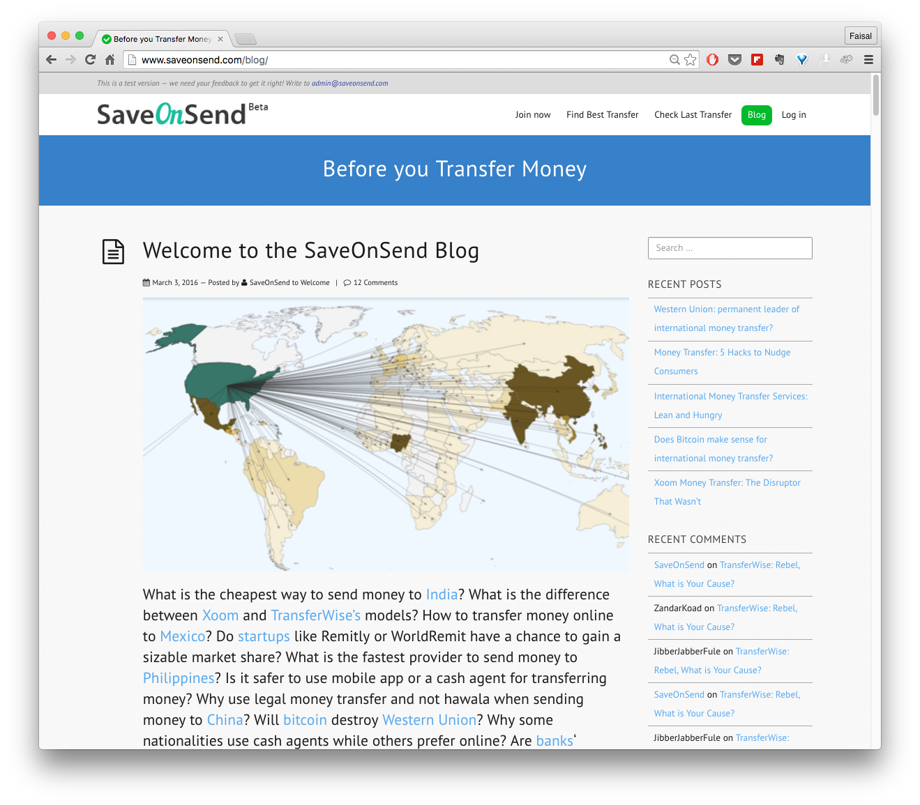 Save On Send Blog Comments Another Great Money Transfer Comparison Website
