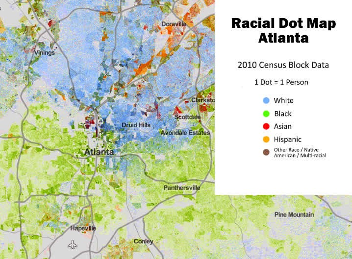 Segregation by race and home value in Atlanta – Darin Givens – Medium