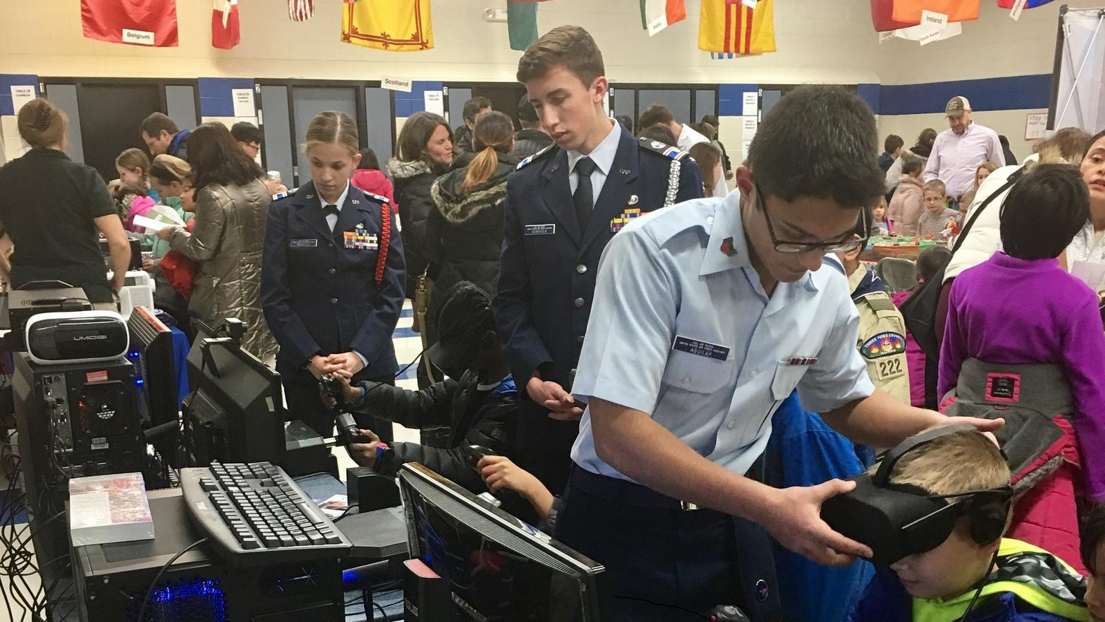 a3b7a248d079 Members of the Civil Air Patrol s Colonel Shorty Powers Squadron are  putting virtual reality technology in the hands of youth in their community  in the ...