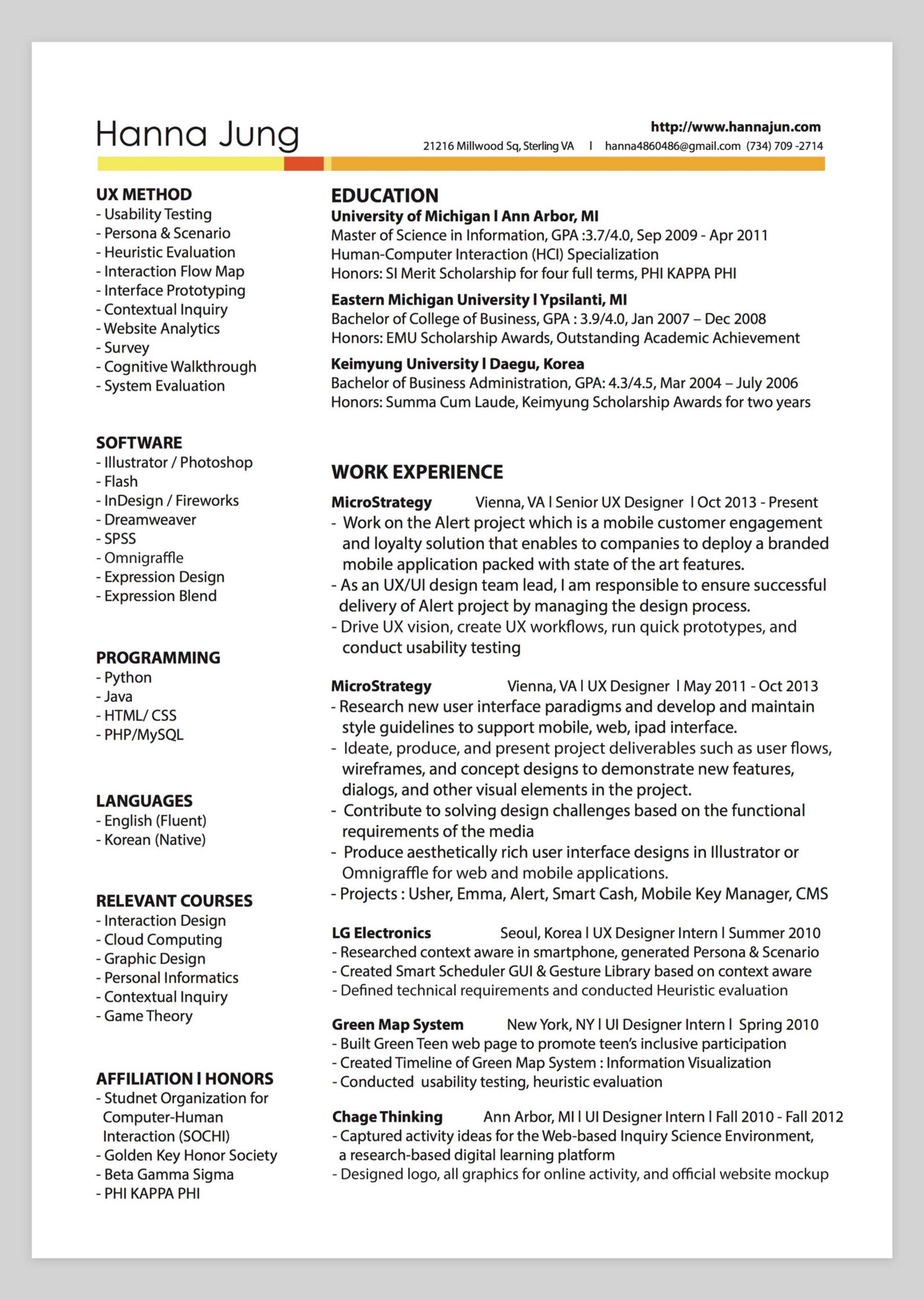 httpbestfolioscomresumehanna jung - Resume Graphic Design