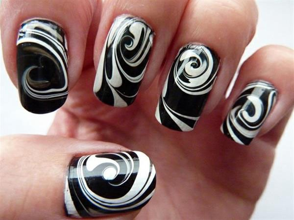 Adorable nail fashion for beginners samaira kapoor medium spiral nail art do you have broad nails then this spiral nail art design is for you just grab a white nail polish five different nail paints colors prinsesfo Image collections