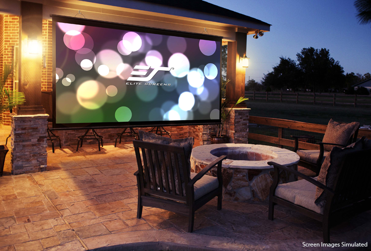 Backyard Movie Projectors quick and easy to fix outdoor movie projector screen