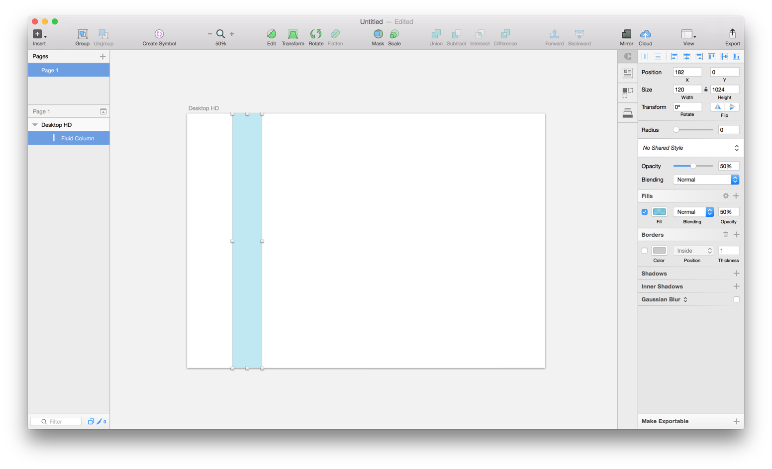 Fluid grid systems in sketch 39 design sketch medium this doesnt matter too much because the grid is to going to be fluid but it will make resizing easier later on buycottarizona Gallery