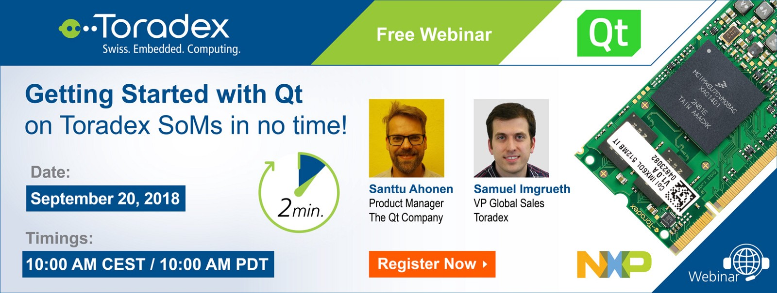 Joint Webinar: Getting Started with Qt on Toradex System on Modules