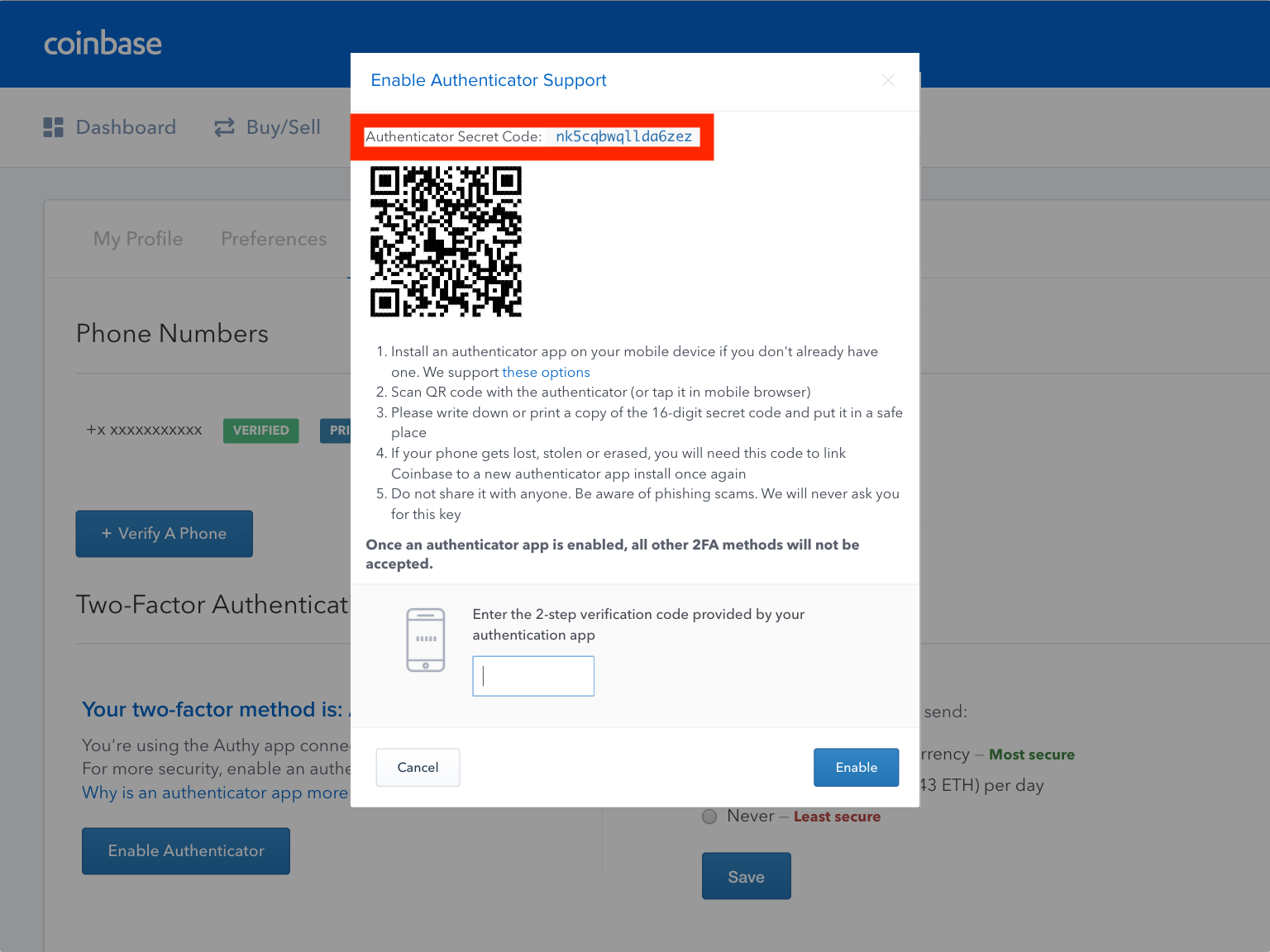 Best Bitcoin Sites Coinbase Google Authenticator Backup Codes