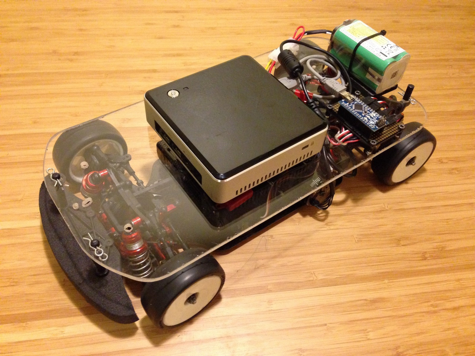 Ghost Ii Controlling An Rc Car With A Computer Hacker Noon Electronics Project How To Make Remote Control Old 4s Lipo Battery Power The Obc And Piece Of Acrylic Serve As Platform Is All Thats Needed For Be Mobile