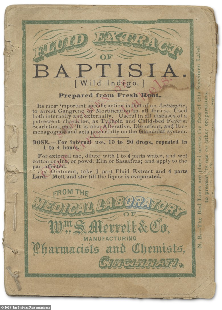 The 19th-Century Roots of a Cincinnati Pharmacist. A bound collection of medicine  bottle ...